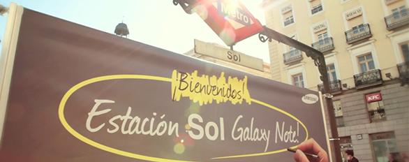 Samsung Galaxy Note metro sol Madrid